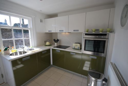 Kitchen facing onto patio area