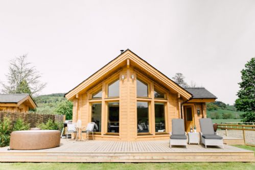 Upfront,up,front,reviews,accommodation,self,catering,rental,holiday,homes,cottages,feedback,information,genuine,trust,worthy,trustworthy,supercontrol,system,guests,customers,verified,exclusive,lagom - log cabin,rivercatcher,llandrillo,,image,of,photo,picture,view