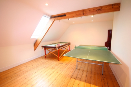 Attic pool and table tennis room
