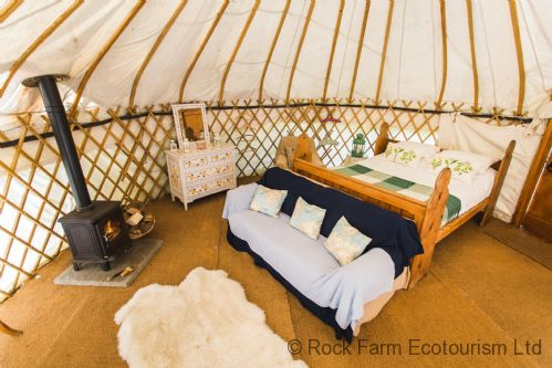 Upfront,up,front,reviews,accommodation,self,catering,rental,holiday,homes,cottages,feedback,information,genuine,trust,worthy,trustworthy,supercontrol,system,guests,customers,verified,exclusive,oak - yurt,rock farm slane,slane,,image,of,photo,picture,view