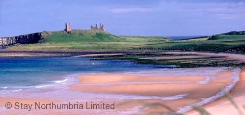 Six miles south Embleton Bay and Dunstanburgh Castle