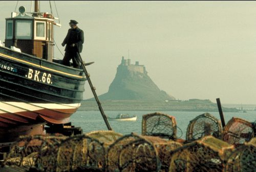 Just up the coast accessible twice a day Holy Island
