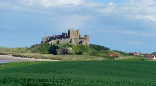 Bamburgh and its Castle just 2.5 miles from the mill