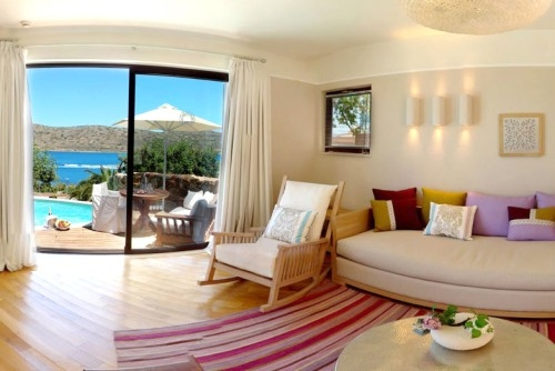 Baby Friendly Holidays at Domes of Elounda-Open Plan Suite (Sea View & Hot Tub)