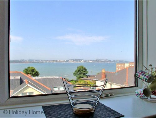 Stanley Apt 1 Paignton - Super Sea views of Torbay from the Kitchen