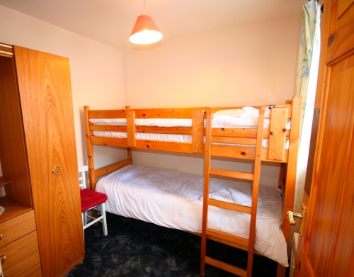 2nd bedroom is bunk beds ideal for youngsters.