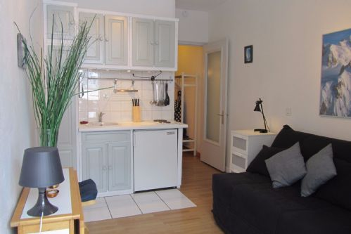 Sofabed and kitchenette