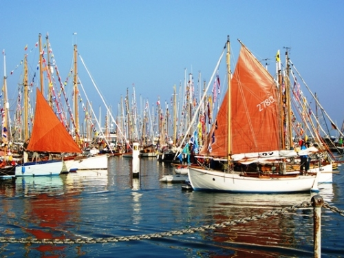 'Old Gaffers' at Yarmouth Harbour
