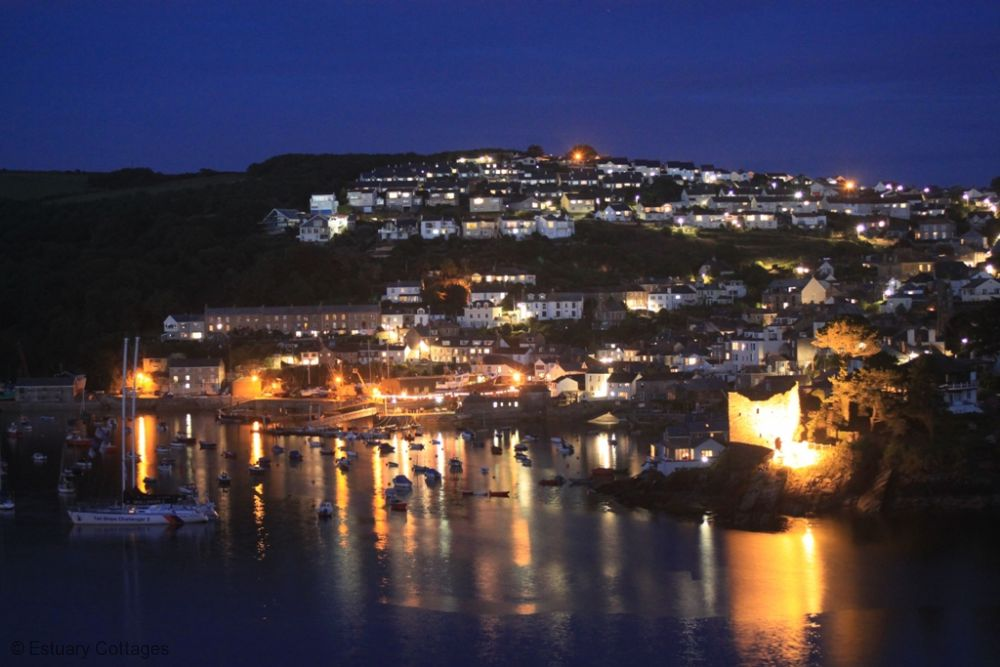 Fowey at night