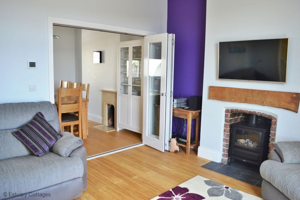 Sitting room through to dining room