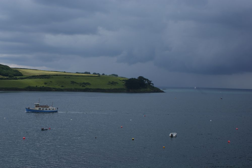 View from; Captains Cottage; St Mawes; Cornwall