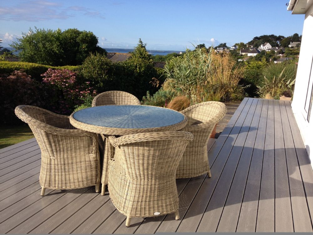 Poldhu; St Mawes; Side Decking Area