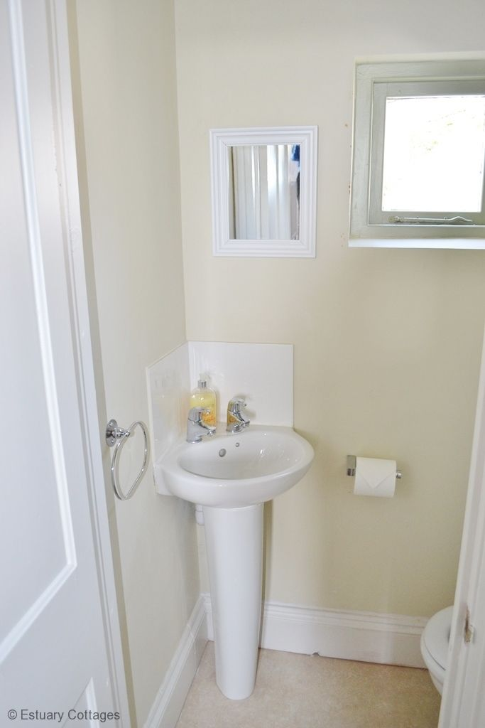 Separate WC and basin