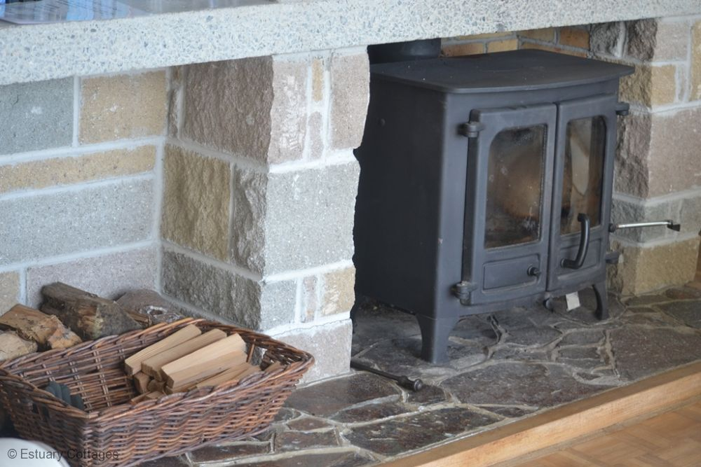 Woodburner in the sitting room