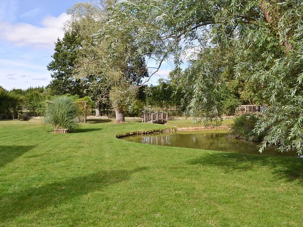 Relax in the private garden, with pond and waterfall
