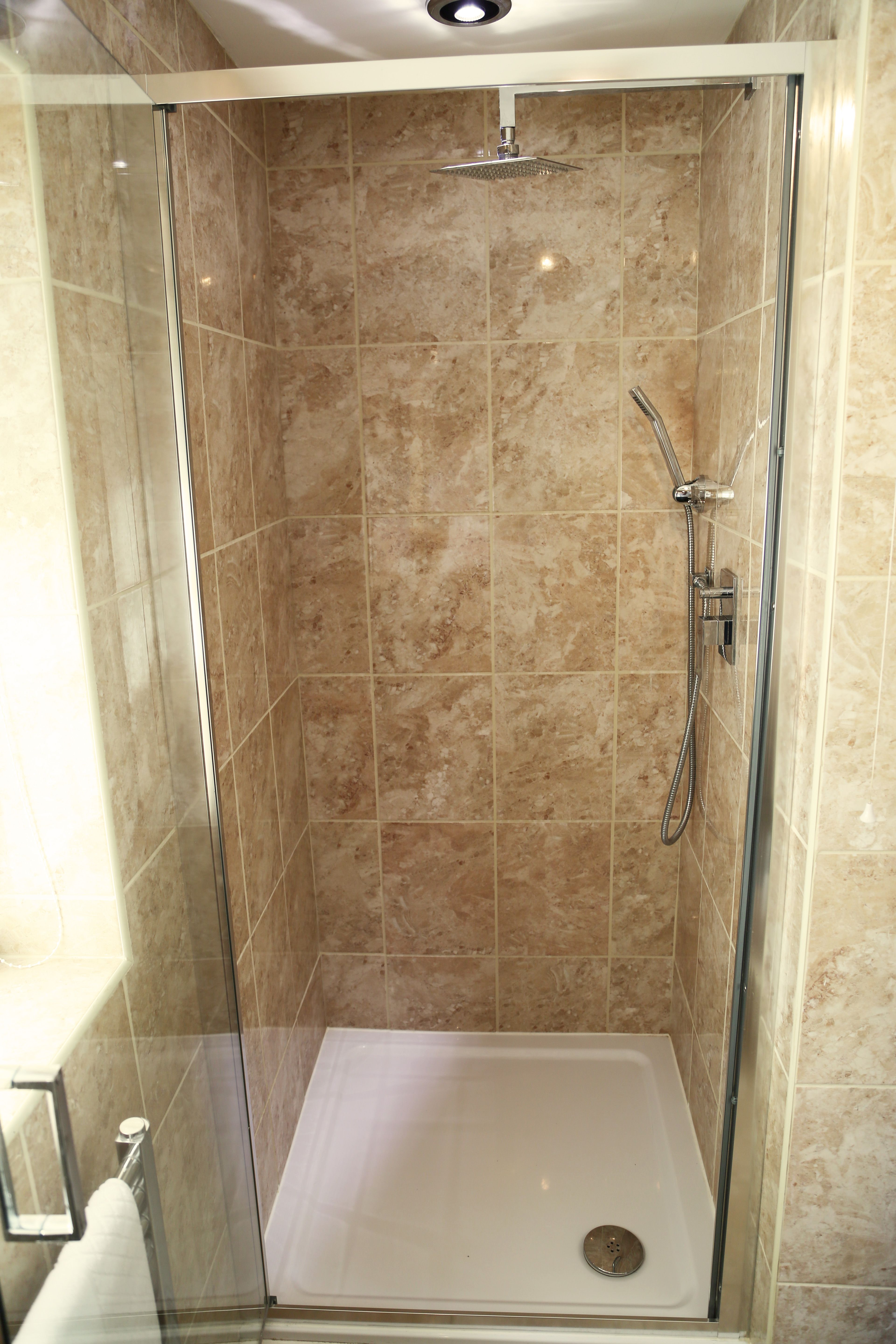 The Studio's shower room with power shower