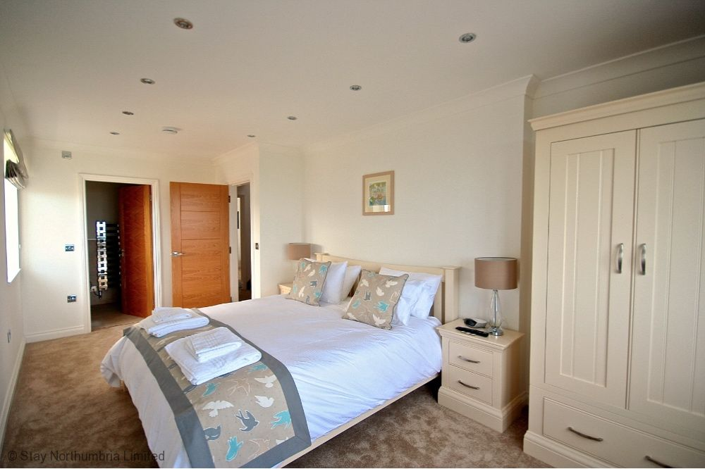 Super King double with ensuite bathroom sea views