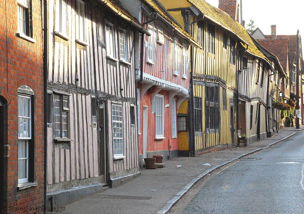 Lavenham's timber framed medieval houses