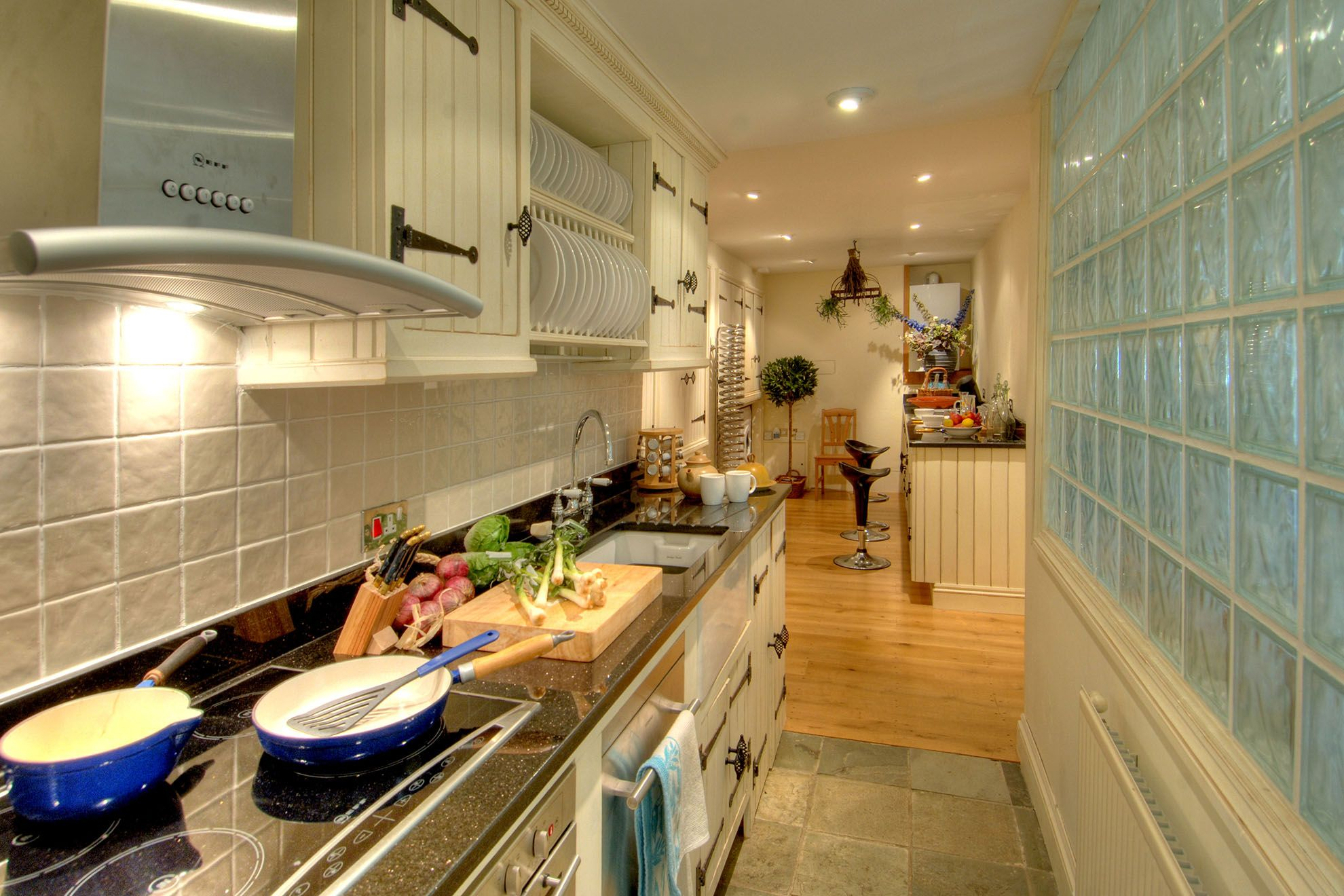 The Barn ground floor: Kitchen/breakfast room with utility area