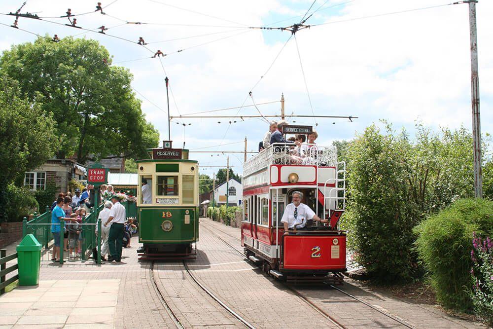 The Seaton Tramway runs from Seaton to Colyton; image copyright Seaton Tramway
