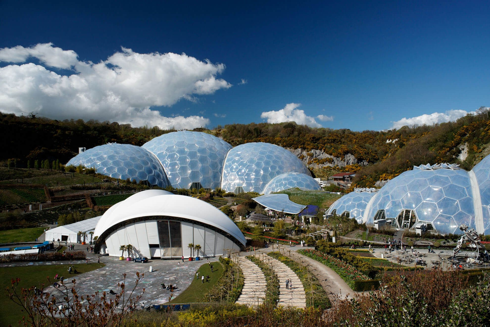 The Eden Project is only half an hour's drive away