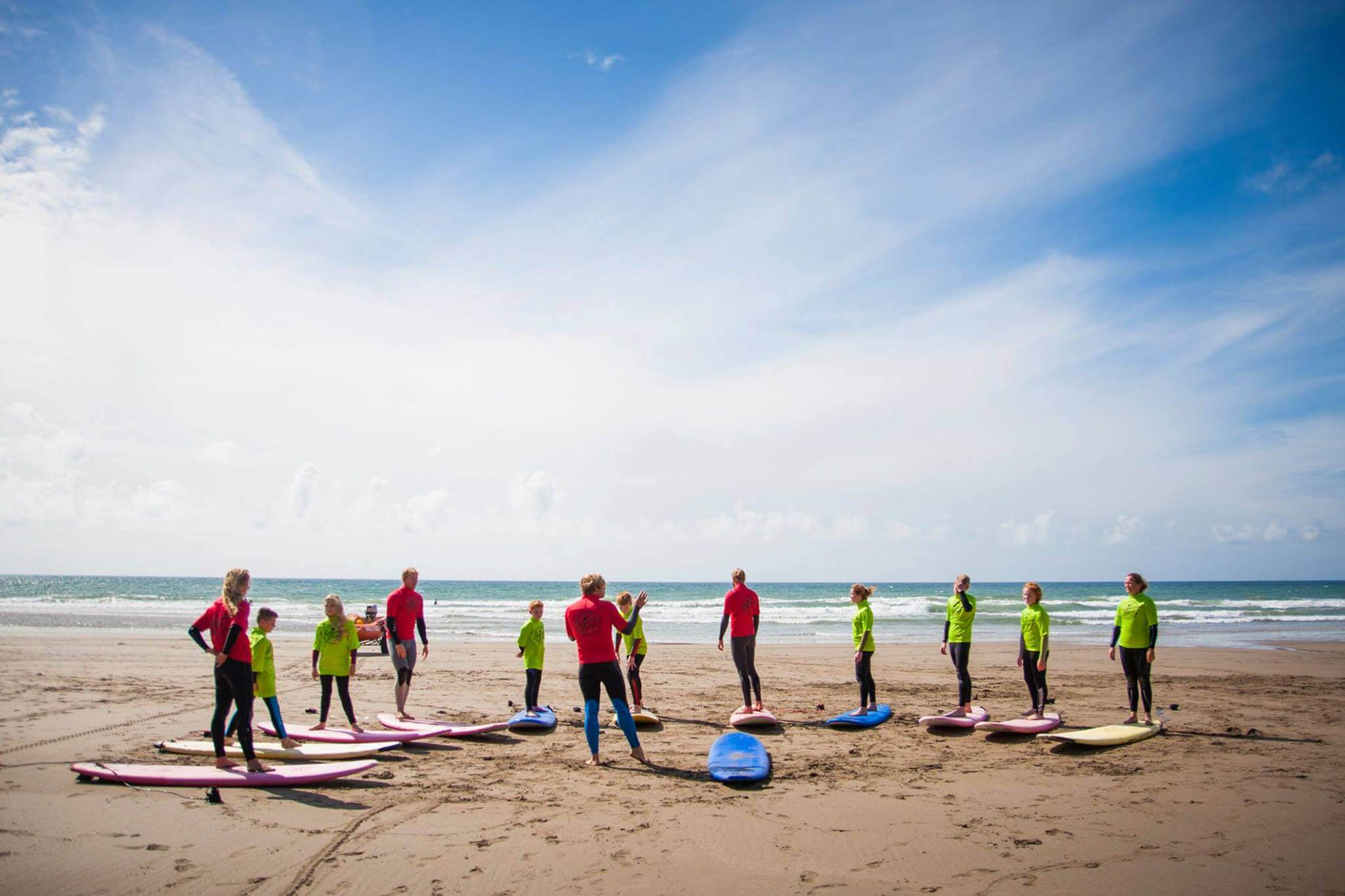 Adventure Bay provide surfing classes & coasteering at Whitsand Bay, 4 miles - image copyright Adventure Bay