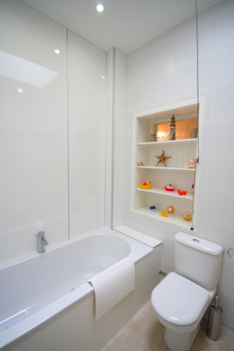 Family bathroom with large bath.....