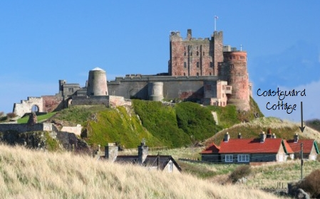 Idyllic location nestled in the dunes under Bamburgh Castle