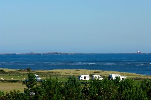 Views from the balcony to the Farne Islands