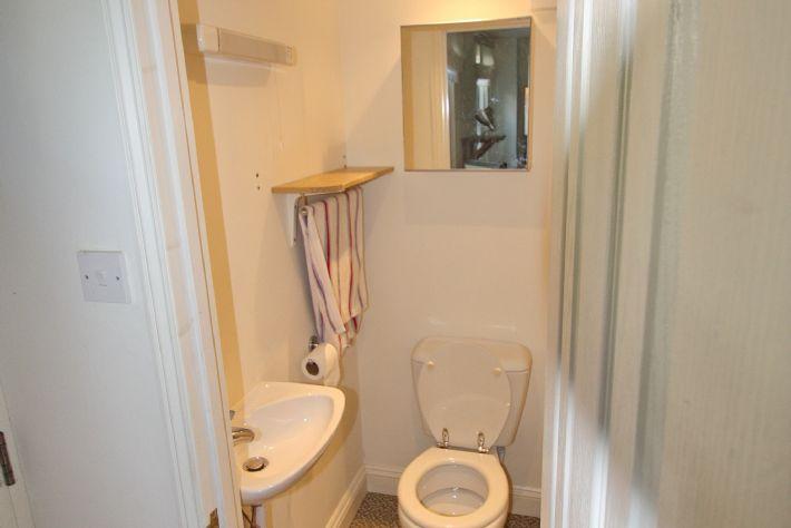 Toilet & basin on groound floor