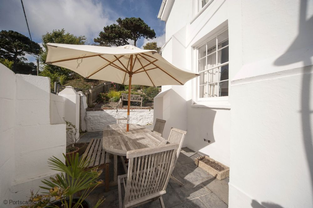 Gibraltar House; St Mawes; Side Patio