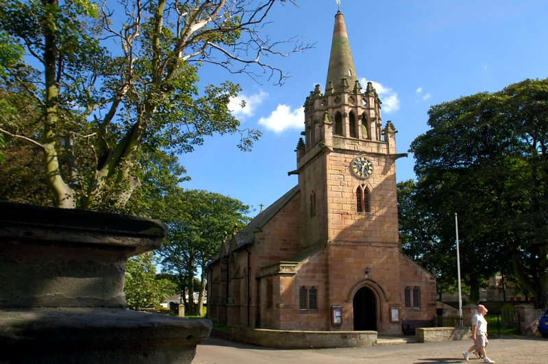 St. Ebbas in the heart of the village of Beadnell