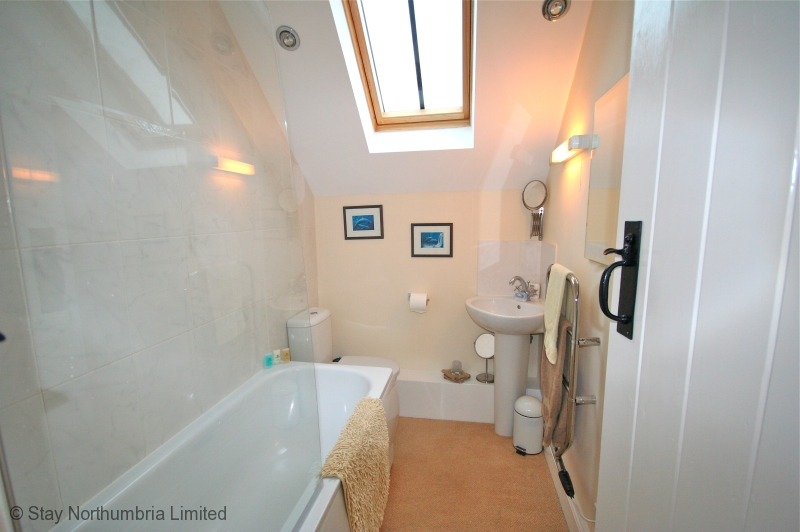 Upstairs family bathroom (bath with shower over)