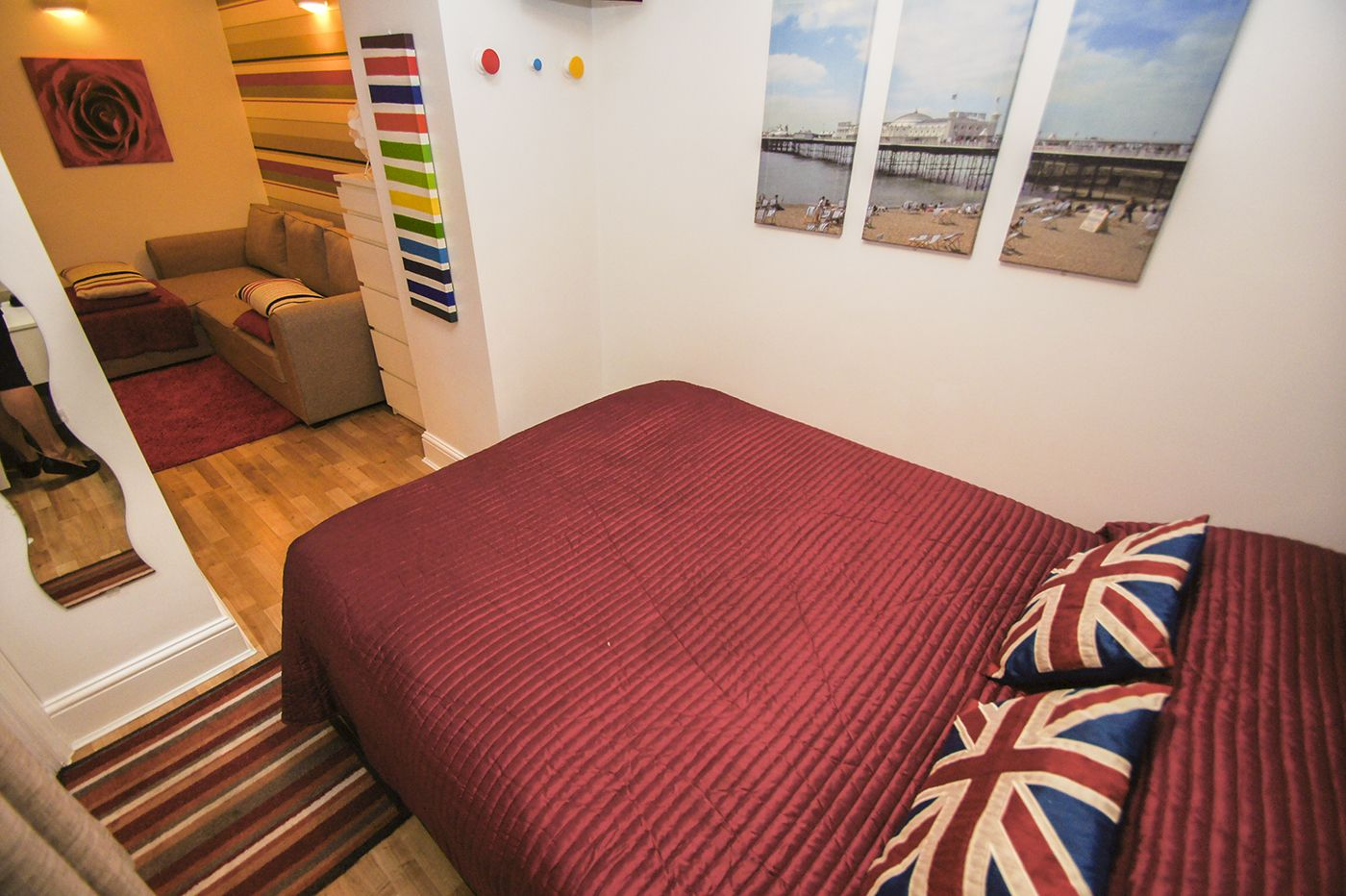 Studio Apartment Separate Sleeping Area brighton lanes studio 2 brighton self catering holiday lets & sort