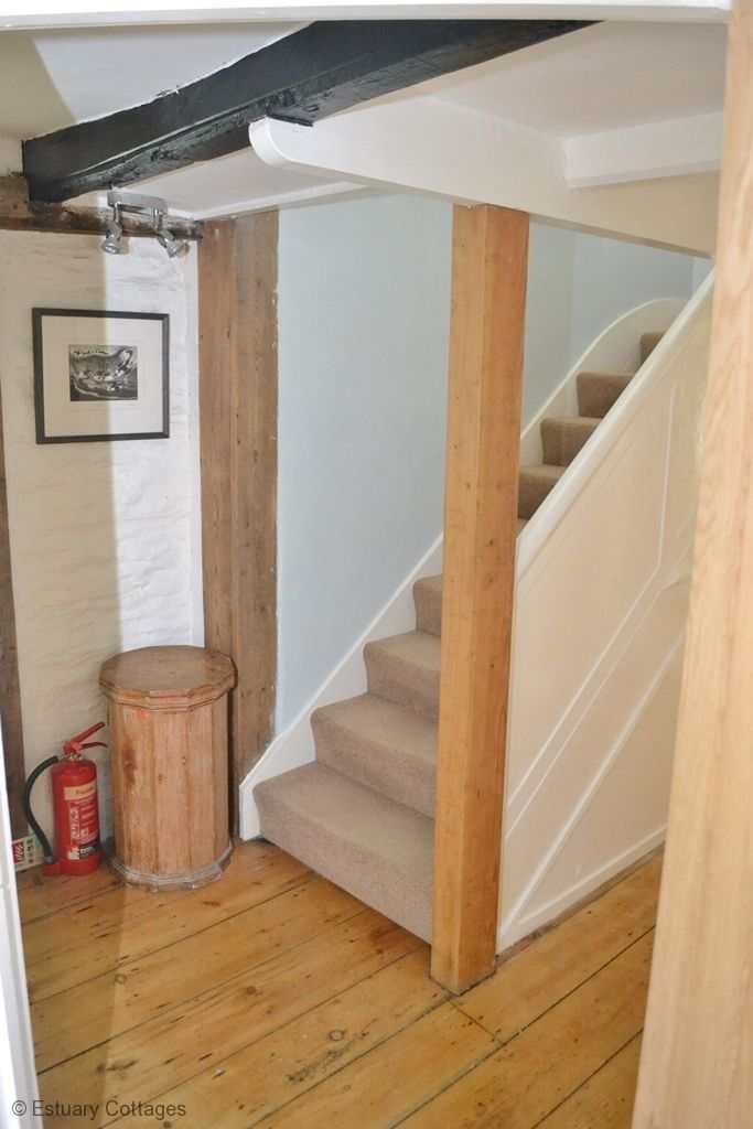 Hall & stairs to sitting room and kitchen