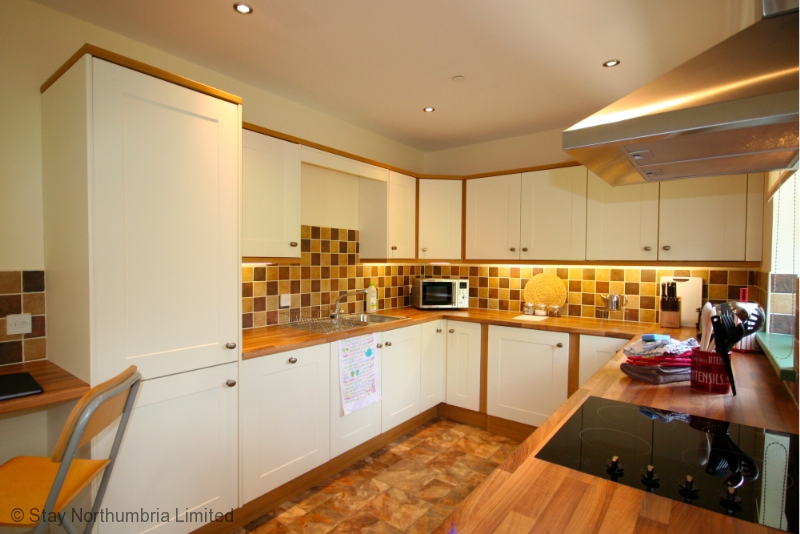 the large kitchen area