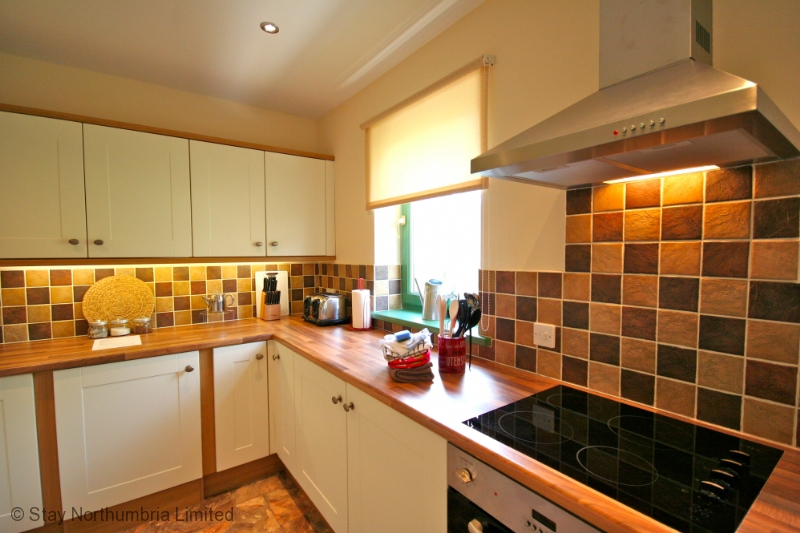 kitchen with a view of the mill stream below