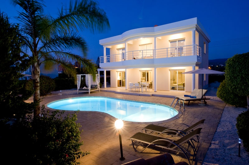 Agios Georgios Villa St George Villa St George at Night