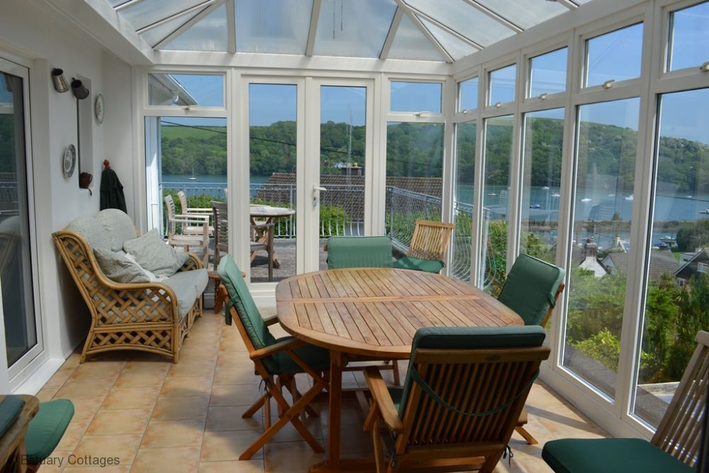 Conservatory with river views