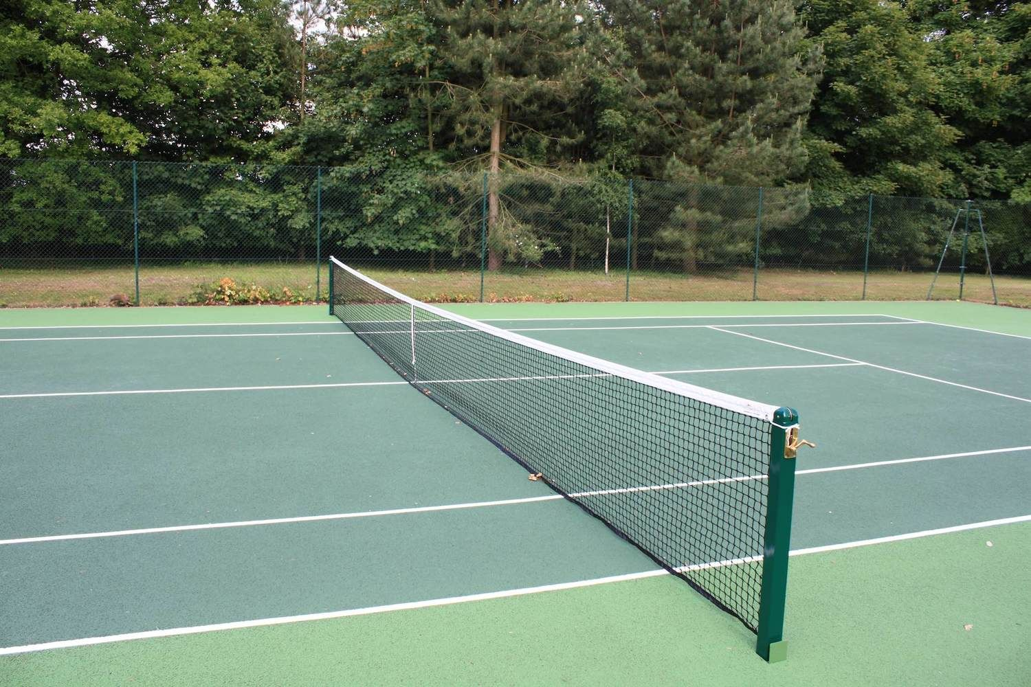 Serve an ace on the all-weather tennis court