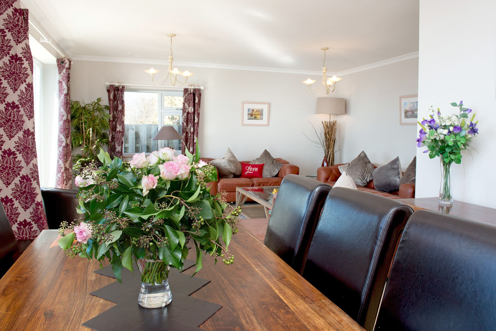 Ground floor: Dining area in the large comfortable living space