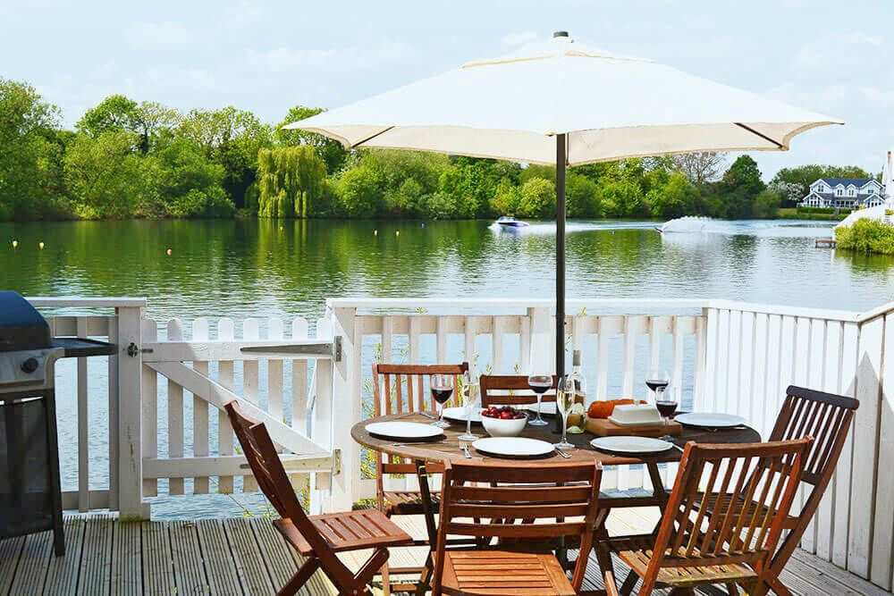 The private deck is a perfect spot to sit back and enjoy lakeside life