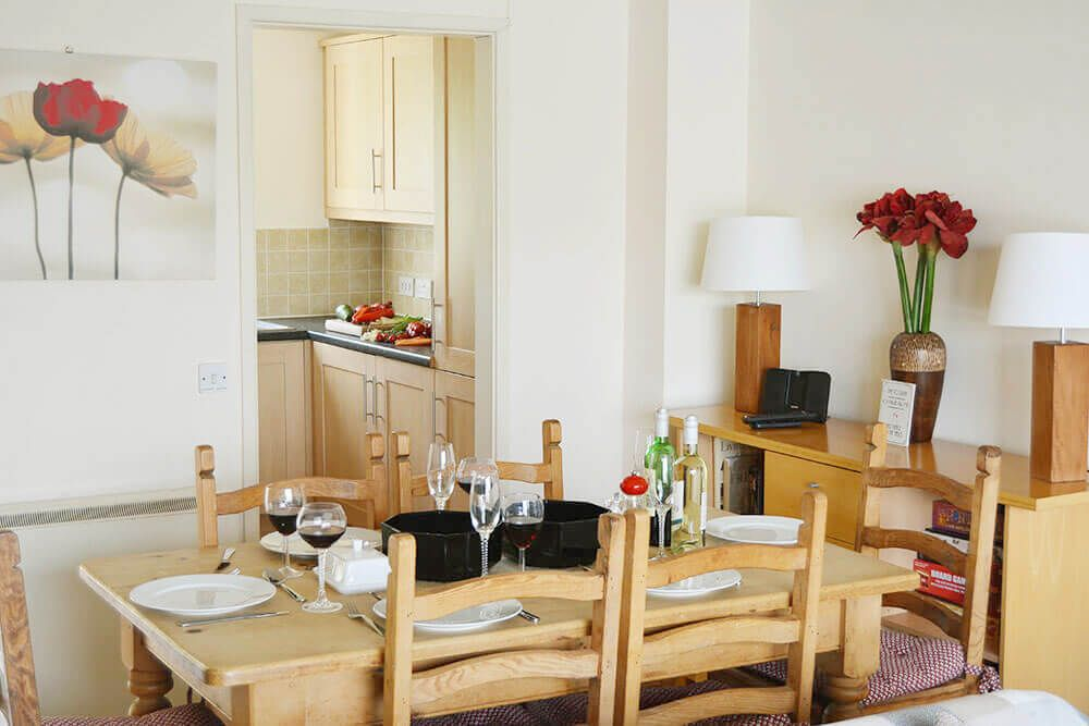 Ground floor: Open plan dining area and kitchen