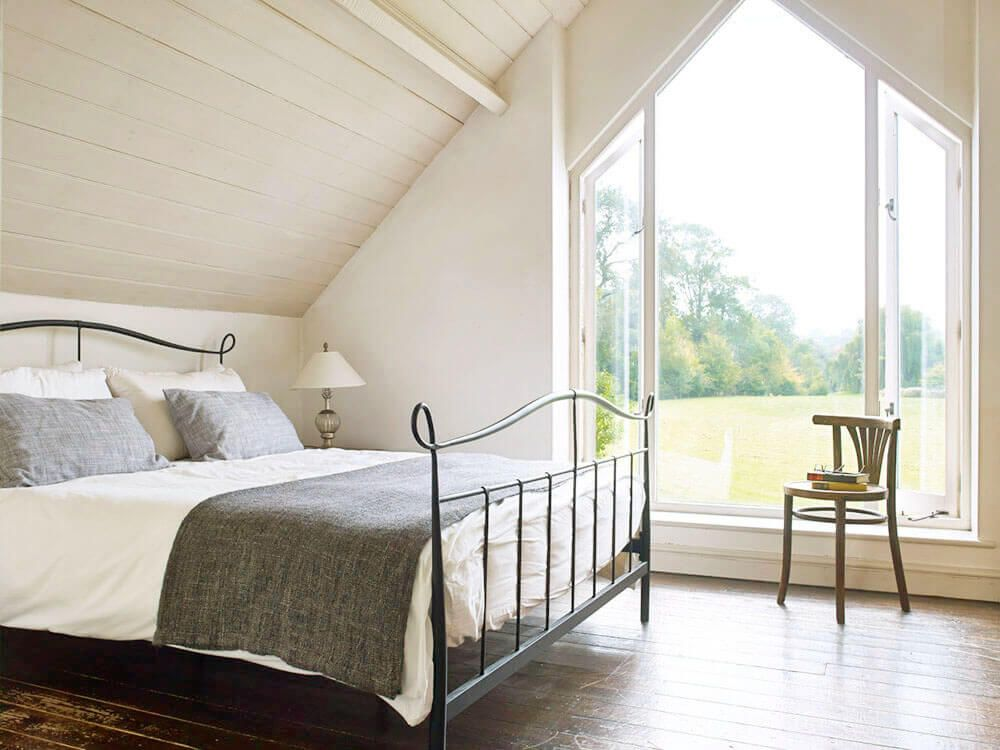 First floor: Master bedroom with lovely country views through the huge picture window