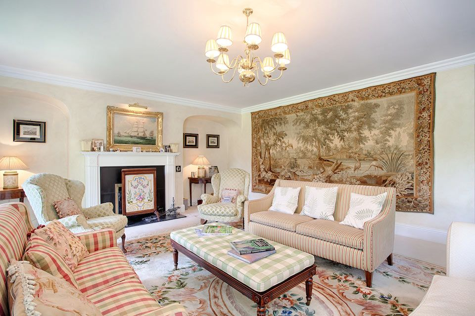 Ground floor: The drawing room will seat your whole party comfortably in front of the open fire