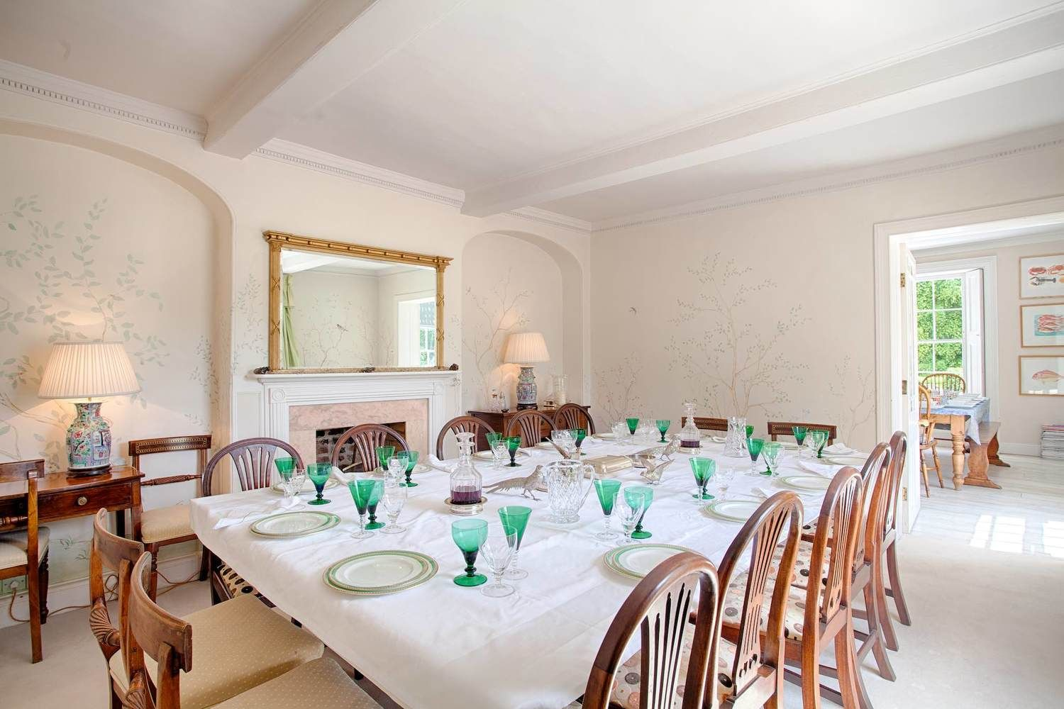 Ground floor: Dining room with a huge table seating 15