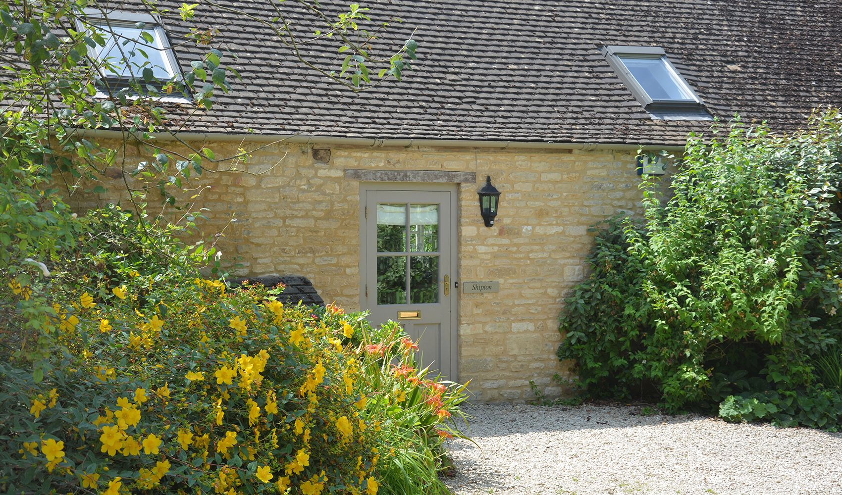 Shipton Cottage, sleeping 6, is built on one level with its own private car park