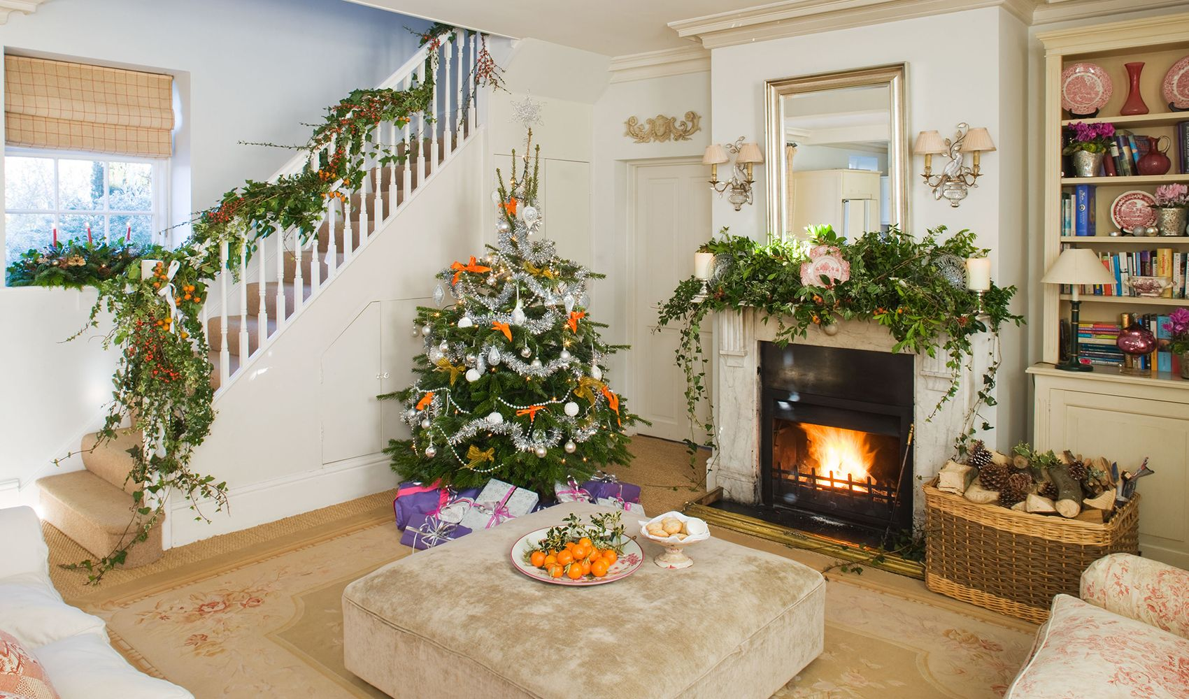 Christmas at Bruern is special & rooms are beautifully decorated