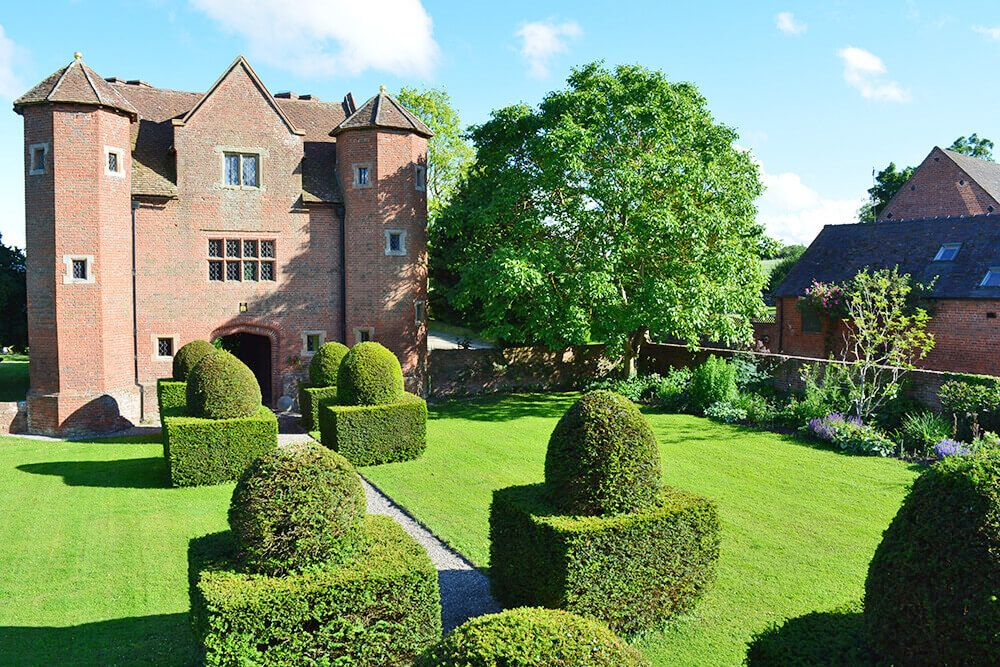 The Grade I listed Gatehouse at Upton Cressett is regarded one of the finest Elizabethan gatehouses in the country