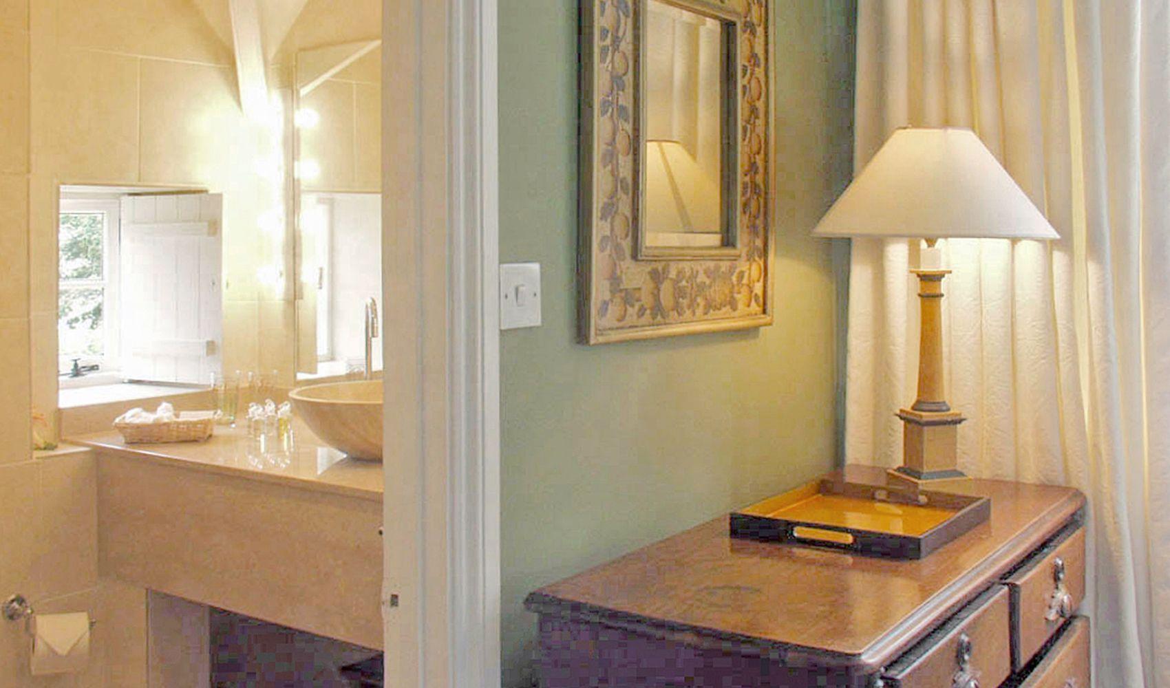 First floor: The master bedroom with an en suite shower room